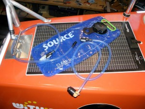 Source water bag with quick-connect fittings