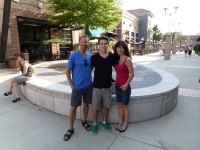 Me, Cody and Helen in Durham after the race