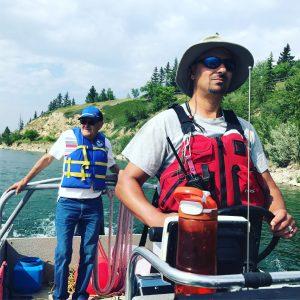 Dad and Glenmore patrol settings buoys