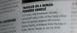 CP2 in the 2010 Guinness Book of World Records!
